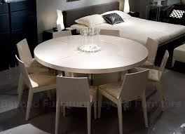 dining tables midollo glossy beige round dining table with beige glass