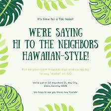 Tropical Party Invitations Customize 4 014 Hawaiian Party Invitation Templates Online Canva