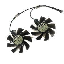 <b>2pcs</b>/<b>lot</b> GPU RX 470/570 ARMOR <b>cooler Video Card fan</b> For ...