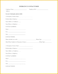 Employee Emergency Contact Form Template Naomijorge Co