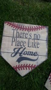 wood sign glass decor wooden kitchen wall: theres no place like home home plate sign distressed baseball by applevalleyprimitive on etsy https