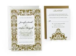 Damask Free Wedding Invitation Template