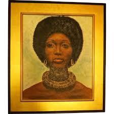 vintage 1970s original oil painting african american womans portrait les pe enfants ruby lane