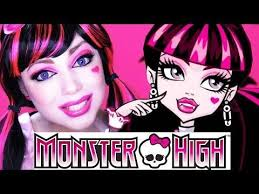 funny makeup monster high draculaura makeup