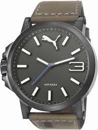 men s puma ultrasize left handed brown leather strap watch pu103461017 18 gif men s puma ultrasize left handed brown leather strap watch pu103461017