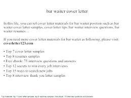 Cover Letter Restaurant Example Resume Objective For Waiter Job Waitress Restaurant Sample Cover