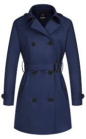 wantdo women s double ted pea coat with belt b071rd45zn