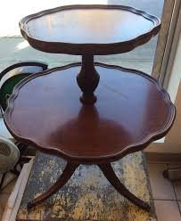 round mahogany coffee table antique vintage round mersman mahogany wood 2 tier pie table claw