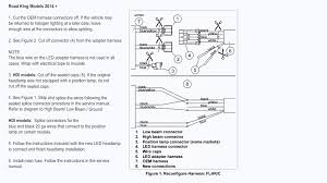 wiring diagram for led headlights wiring image wire harness adapter for harley led headlights part 69200897 on wiring diagram for led headlights
