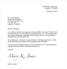 Accept Offer Letter Reply Job Offer Letter Te Business With Employment Acceptance Mail To