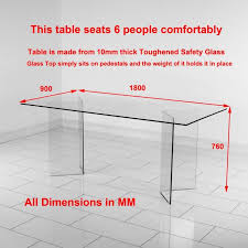 A Newest Dining Room Table Size Based 6 Seater  Dimensions In Cm How