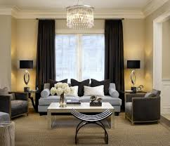 dark living room curtain ideas