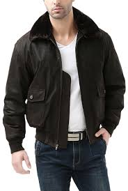 landing leathers navy men s g 1 distressed leather flight er jacket 2