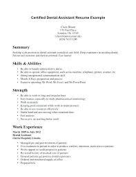 Certified Dental Assistant Resume Dental Assisting Resume Elegant
