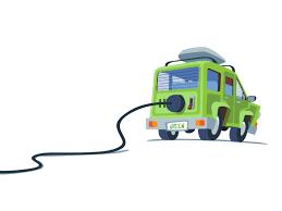 Bildresultat för elbil tecknad bild