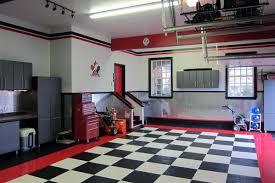 Garage interior Red Red White And Black Finishing Garage Walls Interior Youtube Top 70 Best Garage Wall Ideas Masculine Interior Designs