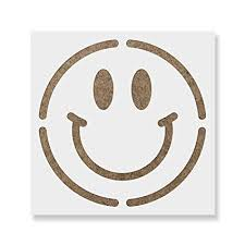 Smiley Face Stencil Template Reusable Stencil With Multiple