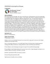Fundraiser Cover Letter Fundraising Nonprofit E Cover Letter