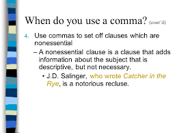 When Do I Use A Comma Commas And Semicolons How To Pause What Is A Comma A