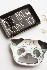 dog desk accessories dog themed trinket trays
