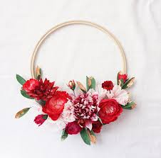 Christmas Paper Flower Wreath Paper Flower Holiday Wreaths Christmas Decor 100 Layer Cake