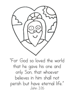 John 316 Bible Verse Printables Christian Preschool Printables