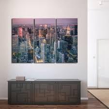 on canvas wall art new york city with new york skyline multi panel canvas wall art elephantstock