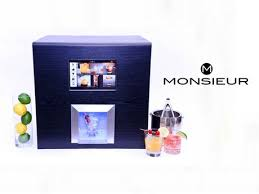 Mixed Drink Vending Machine Classy Monsieur The Artificially Intelligent Robotic Bartender By