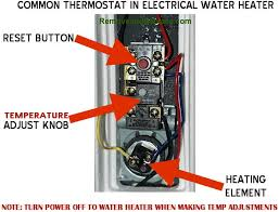 how to change the temperature on your electric water heater water heater thermostat