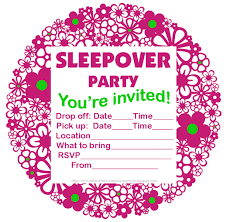 How To Make A Sleepover Invitation Invitations For Sleepover Party