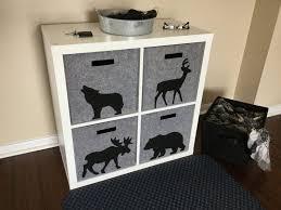 Decorative Fabric Storage Boxes Decoration Plastic Woven Storage Baskets Black Cube Storage 75