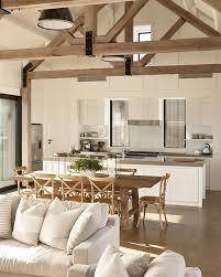 Rustic beams in this modern farmhouse.   c e i l i n g   Modern ...