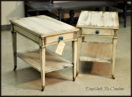 End Table Paint Ideas Chalk Paint Mid Century Vintage Mersman End Tables Vintage