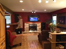 best lighting for living room. Family Fireplace With Painted Mantel, Update Idea Best Lighting For Living Room E