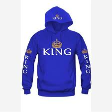 <b>2019</b> Spring King Queen Printed <b>Hoodies</b> Women Men <b>Sweatshirt</b> ...