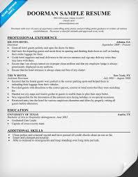 Doorman Job Description Resume ... Bellman Resume Sample 2016 pertaining to  Bellman resume sample