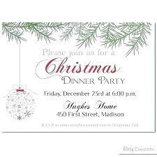 Holiday Dinner Invitation Template Corporate Christmas Invitation Template Wsopfreechips Co