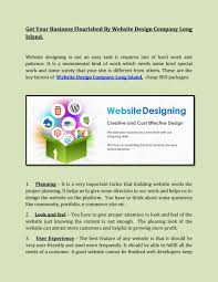 Long Island Web Design Company Website Design Company In Long Island By Long Islands Seo