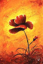 my flowers red poppy painting edit voros my flowers red poppy art print