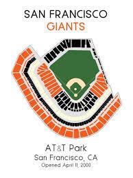 San Francisco Stadium Seating Chart San Francisco Giants Att Park Mlb Stadium Map Ballpark Map Baseball Stadium Map Gift For Him Stadium Seating Chart Man Cave