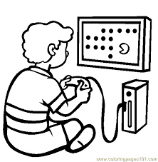 Video Game Coloring Pages Video Game Coloring Pages With Cute