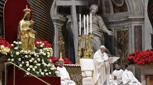 Pope Francis' Homily for Solemnity of Mary, Mother of God and the 52nd World Day of Peace | Salt + Light Media