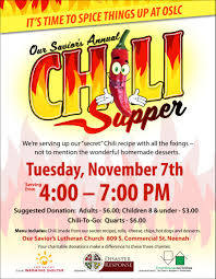 chili supper flyer our saviors annual chili supper future neenah