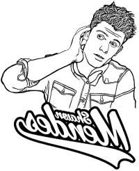 Shawn Mendes Coloring Pages Shawn Mendes Coloring Pages