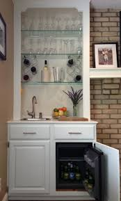 kitchen cabinets into bar the placed our wine fridge diy mini stand storage cart cabinet with