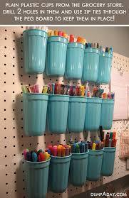 amazing easy diy home decor ideas plastic cup organizer dump a day