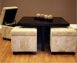 Charming Image Of: Square Coffee Table With Ottomans Underneath Design Inspirations