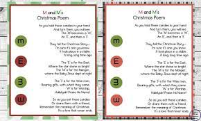 M&m christmas poem it tells the christmas story, it's one i'm sure you know, it took place in a stablea long, long time ago. M And M S Christmas Poem Simple Living Creative Learning