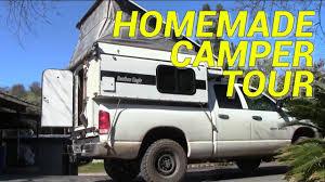 Homemade Pop-up Camper Tour - YouTube