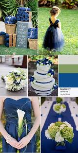 lapis blue and green wedding color ideas